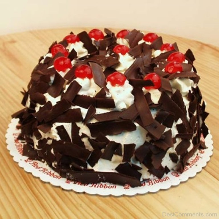 Happy Birthday With Black Forest Cake Desicomments