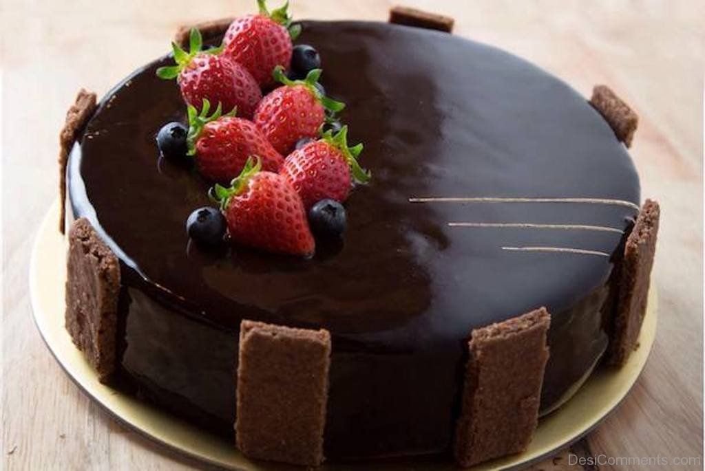 Happy Birthday With Chocolate Cake Nice Image Desicomments