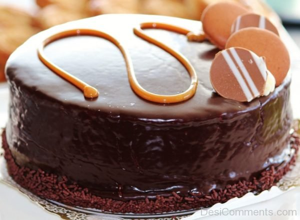 Happy Birthday With Chocolate Cake Picture