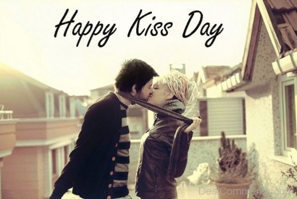 Happy Kiss Day Adorable Picture
