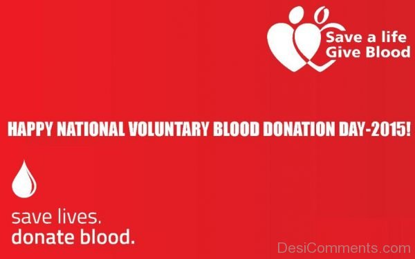 Happy National Voluntary Blood Donation Day