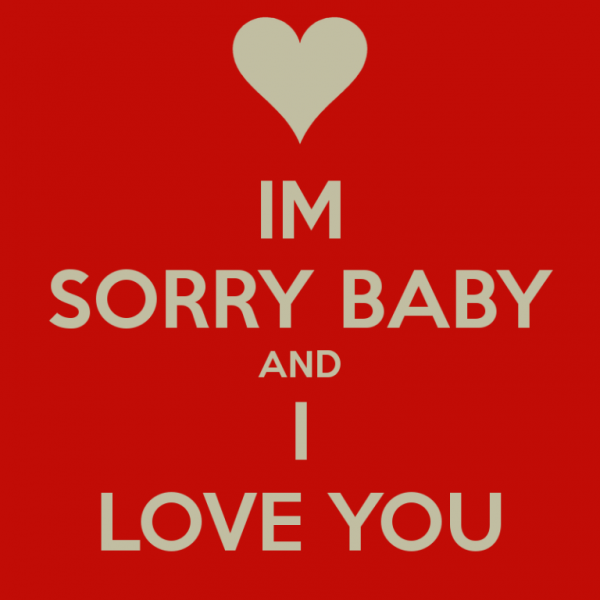 Picture: I Am Sorry Baby And I Love You