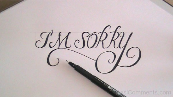 I Am Sorry Photo