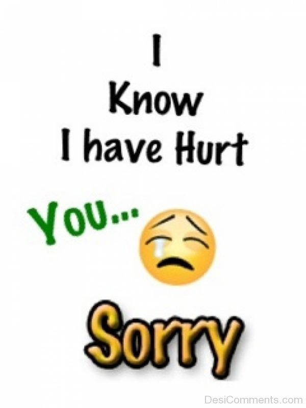 I Knoe I Have Hurt You Sorry