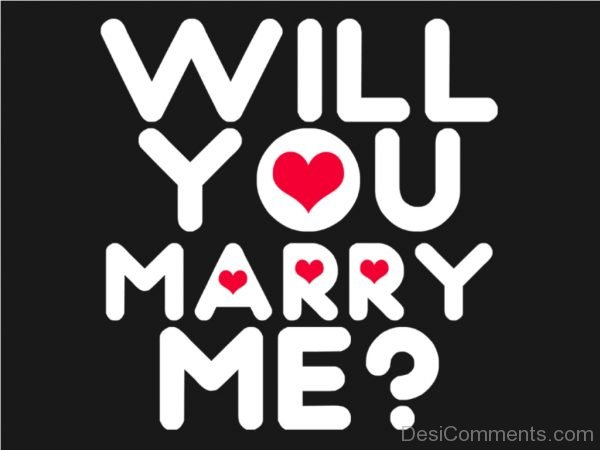 Image Of Will You Marry Me