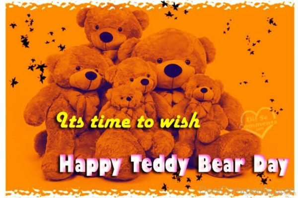 Its Time To Wish Happy Teddy Bear Day