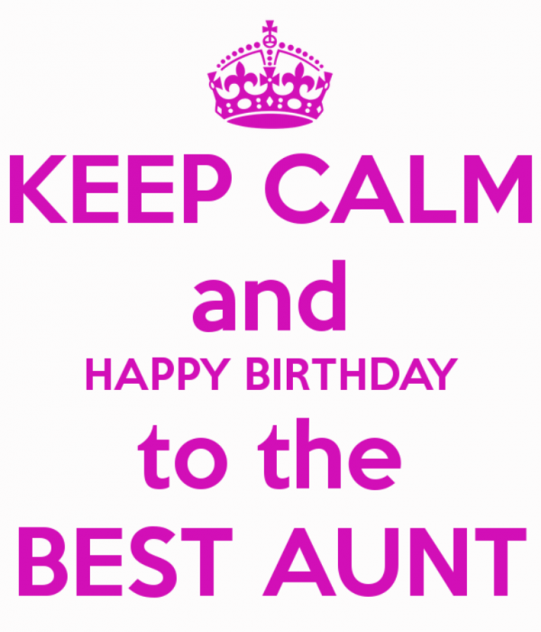 Keep Calm And Happy Birthday To The Best Aunt