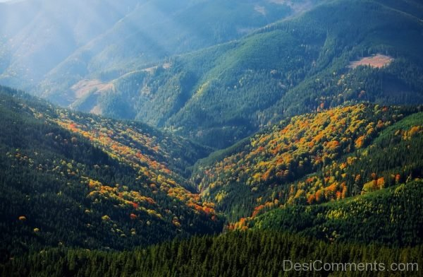 Mountain Rays Hill Nature Landscape
