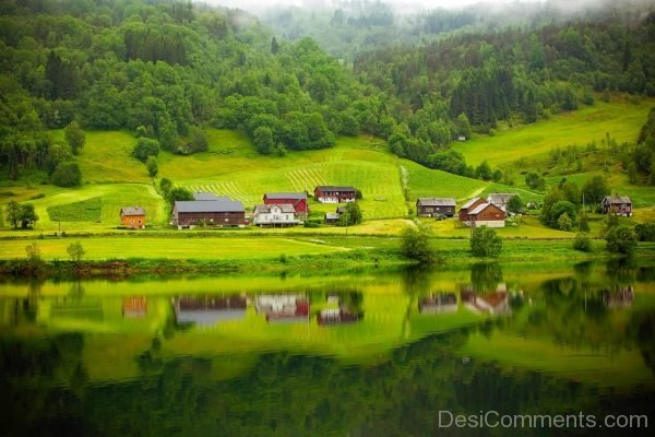 Norway Fjord River Water Reflection Beautiful