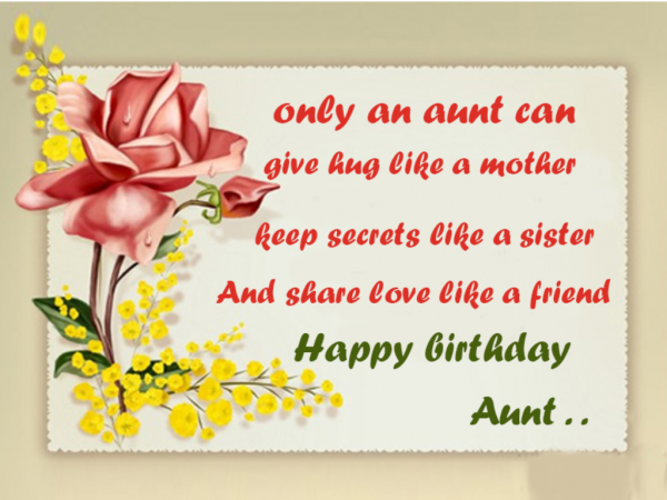 Only An Aunt Can Give Hug Like A Mother