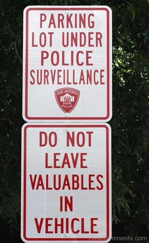 Parking Lot Under Police Surveillance