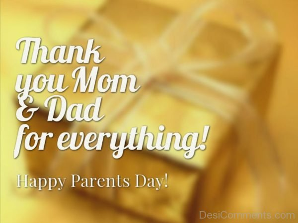Thank You Mom And Dad For Everything