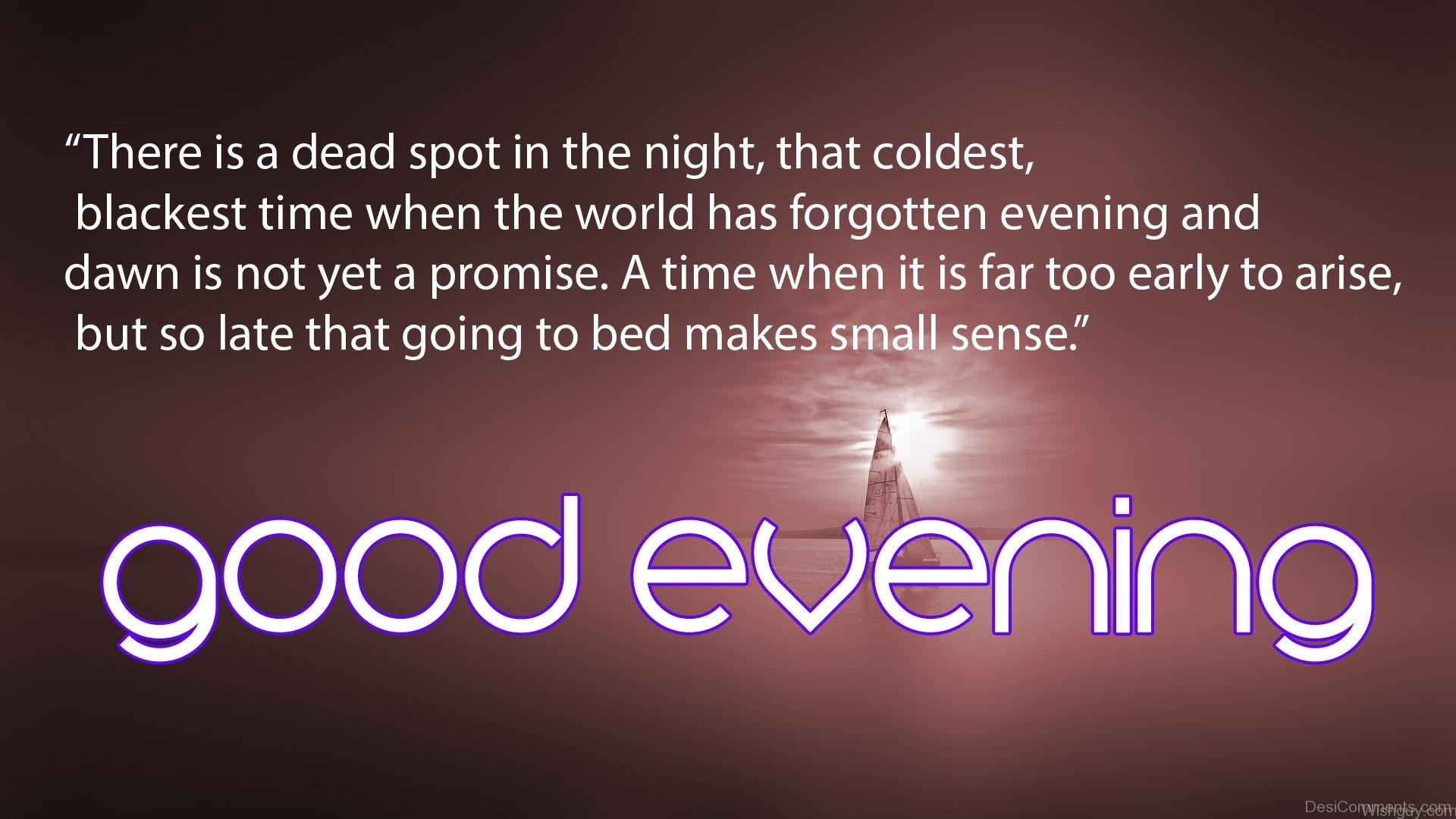 Good Evening Wallpaper For Facebook Upload