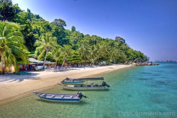 Typical Beach Of East Coast Malaysia And Its Islands