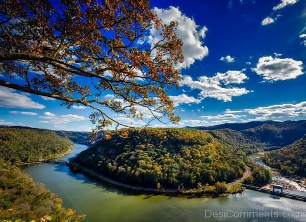 West Virginia Horseshoe Bend River New River Fall