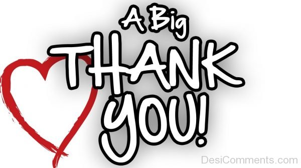 Picture: A Big Thank You