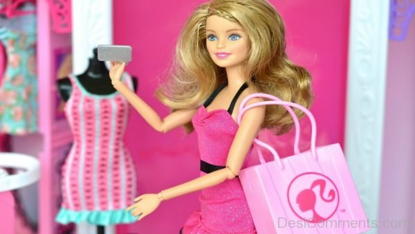 Barbie Doll Holding Handbag