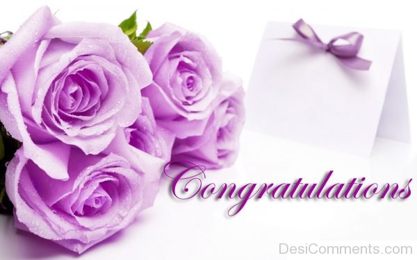 Congratulations With Pink Rose