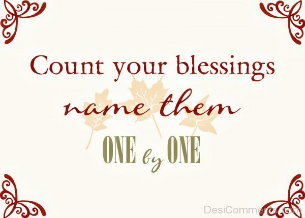 Count Your Blessings Name Them One By One