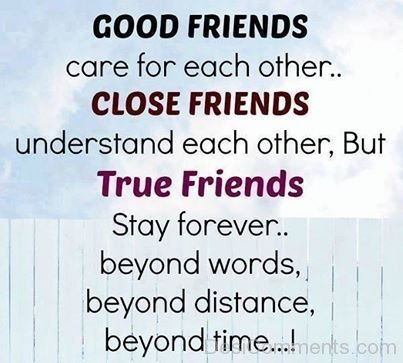Good Friends Care Each Other Close Friends