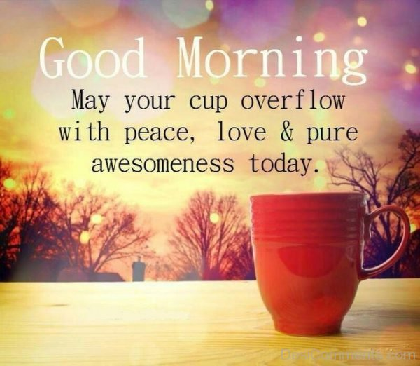 Good Morning May Your Cup Overflow With Peace