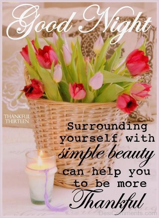Good Night Surrounding Yourself With Simply Beauty Can Help You To Be More Thankful