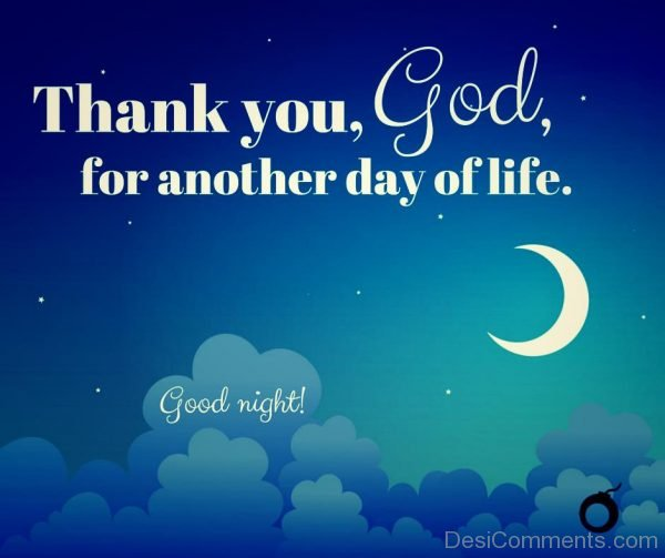 Good Night Thank You God