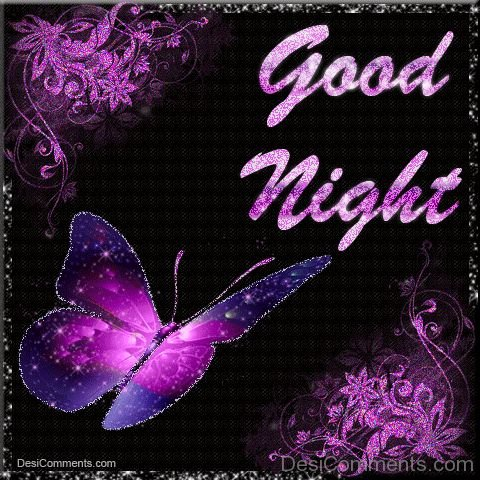Good Night With Butterfly