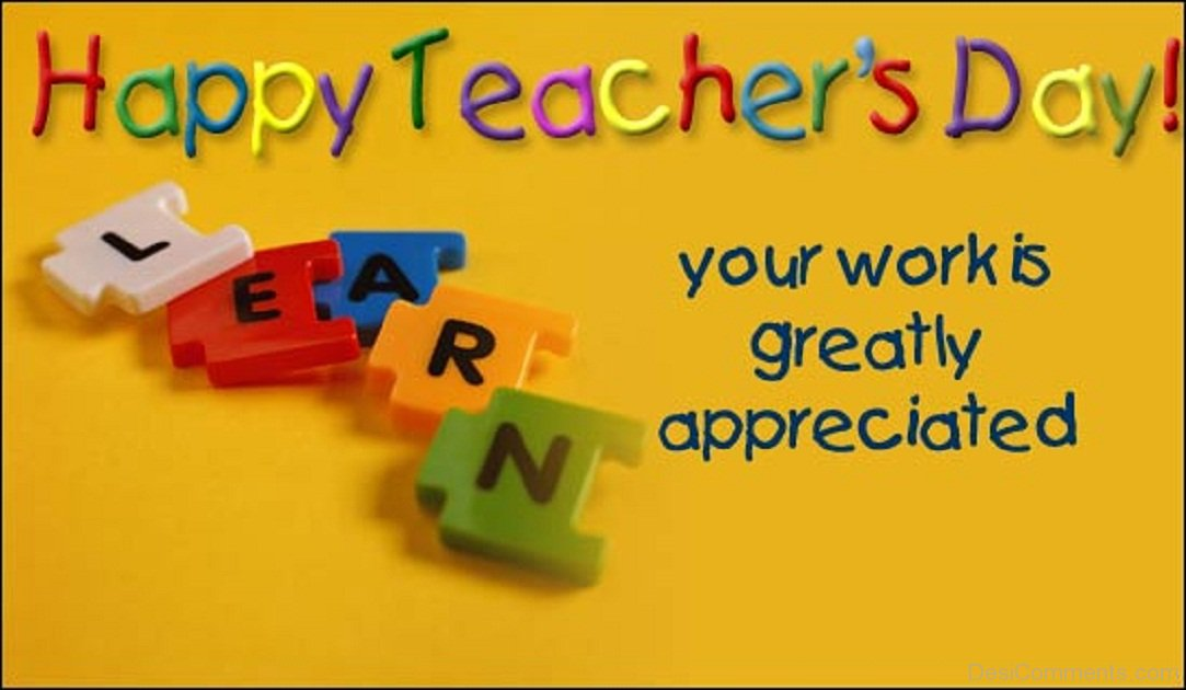 Happy Teachers' Day poster. Image courtesy: desicomments.com
