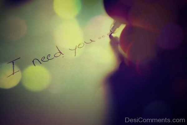 Picture: I Need You Image