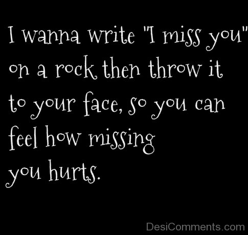 I Wanna Write I Miss You