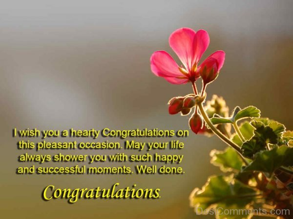 I Wish You A Hearty Congratulations