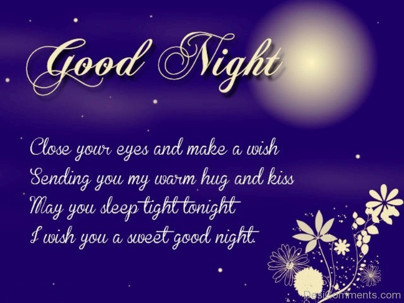 Image of: Love Wish You Sweet Good Night Desicommentscom Good Night Quotes Pictures Images Graphics Page