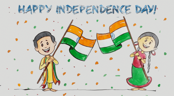 Independence Day Sketch Picture