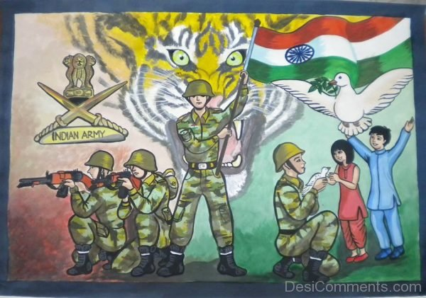 Indian Army Painting