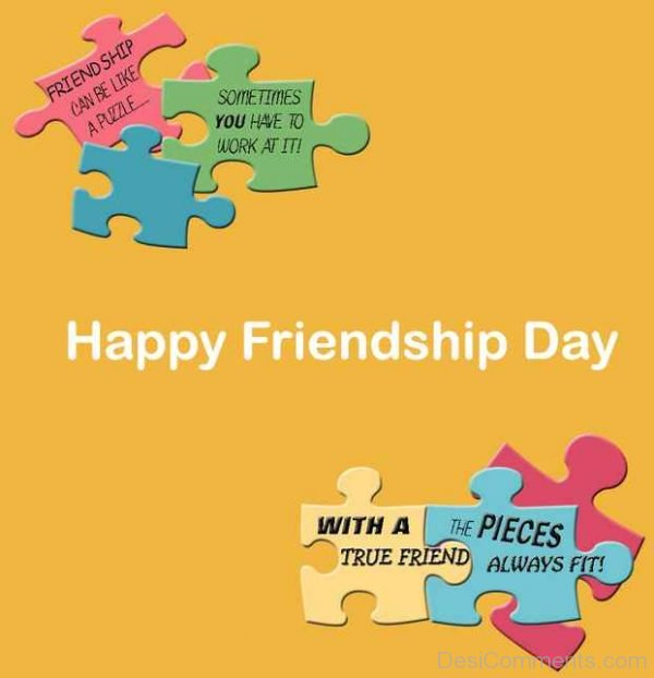 Lovely Pic Of Happy Friendship Day