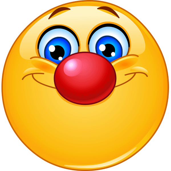 Smiley With Red Nose