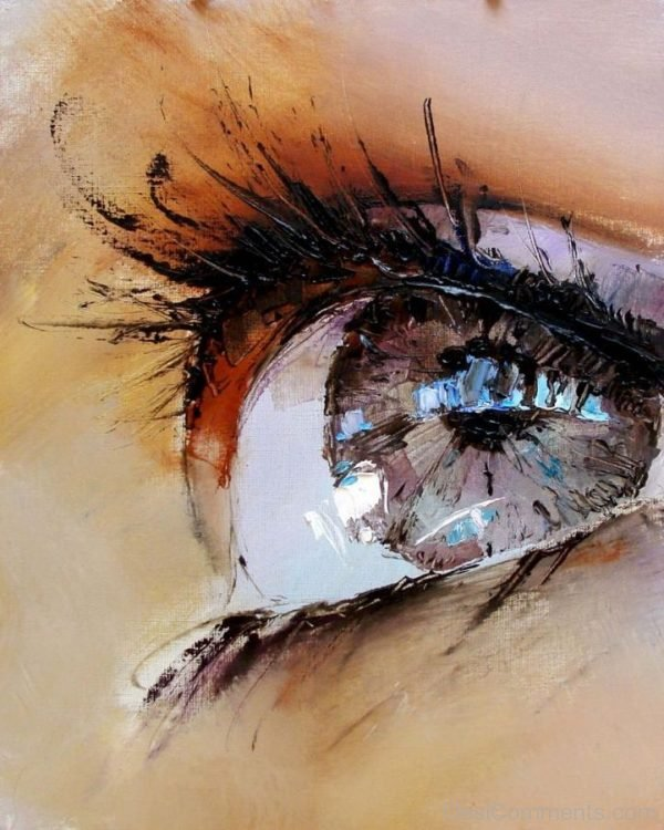 Spectacular Oil Painting Of Twinkling Eyes