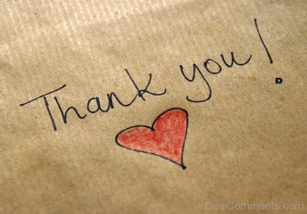 Thank You With Heart