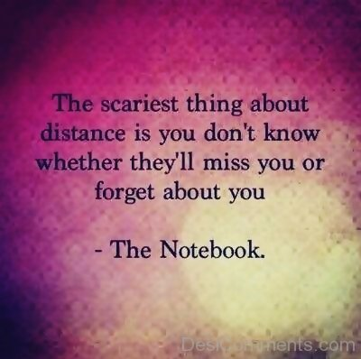 The Scariest Thing About Distance Is You