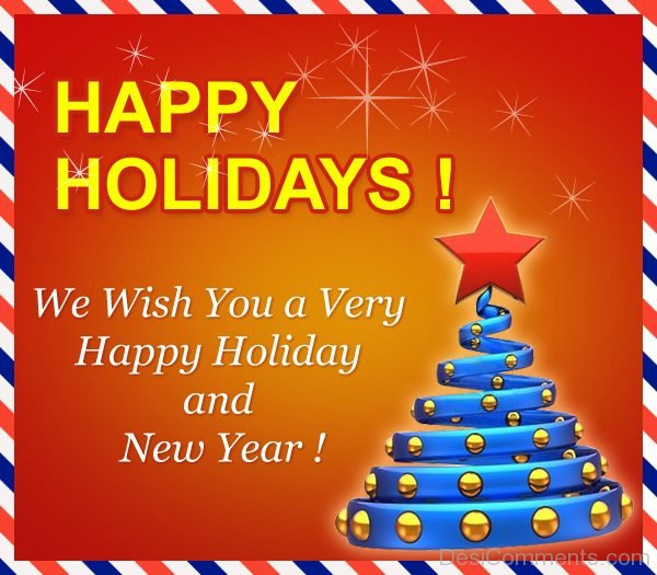 We Wish You A Very Happy Holiday