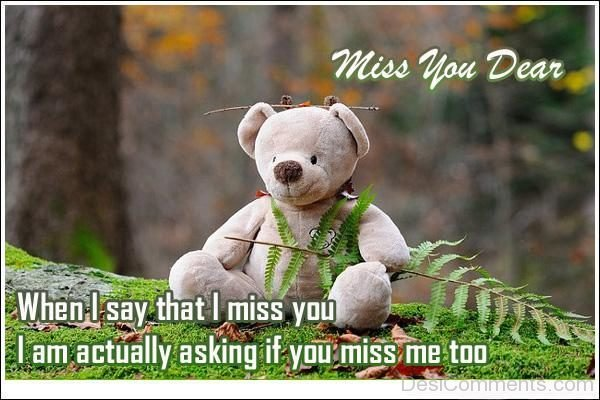 When I Say That I Miss You