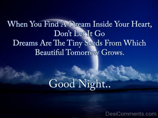 When You find A Dream Inside Your Heart – Good Night