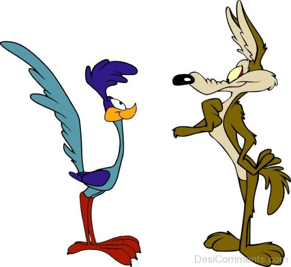 Wile E. Coyote With Road Runner