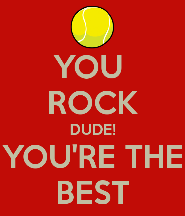 You Rock Dude You Are The Best