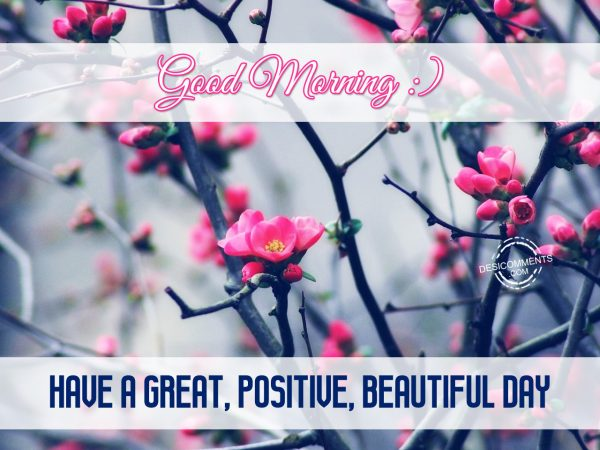 Good Morning Have A Great Positive, Beautiful Day