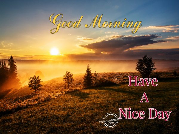 Good Morning ! Have A Nice Day.....