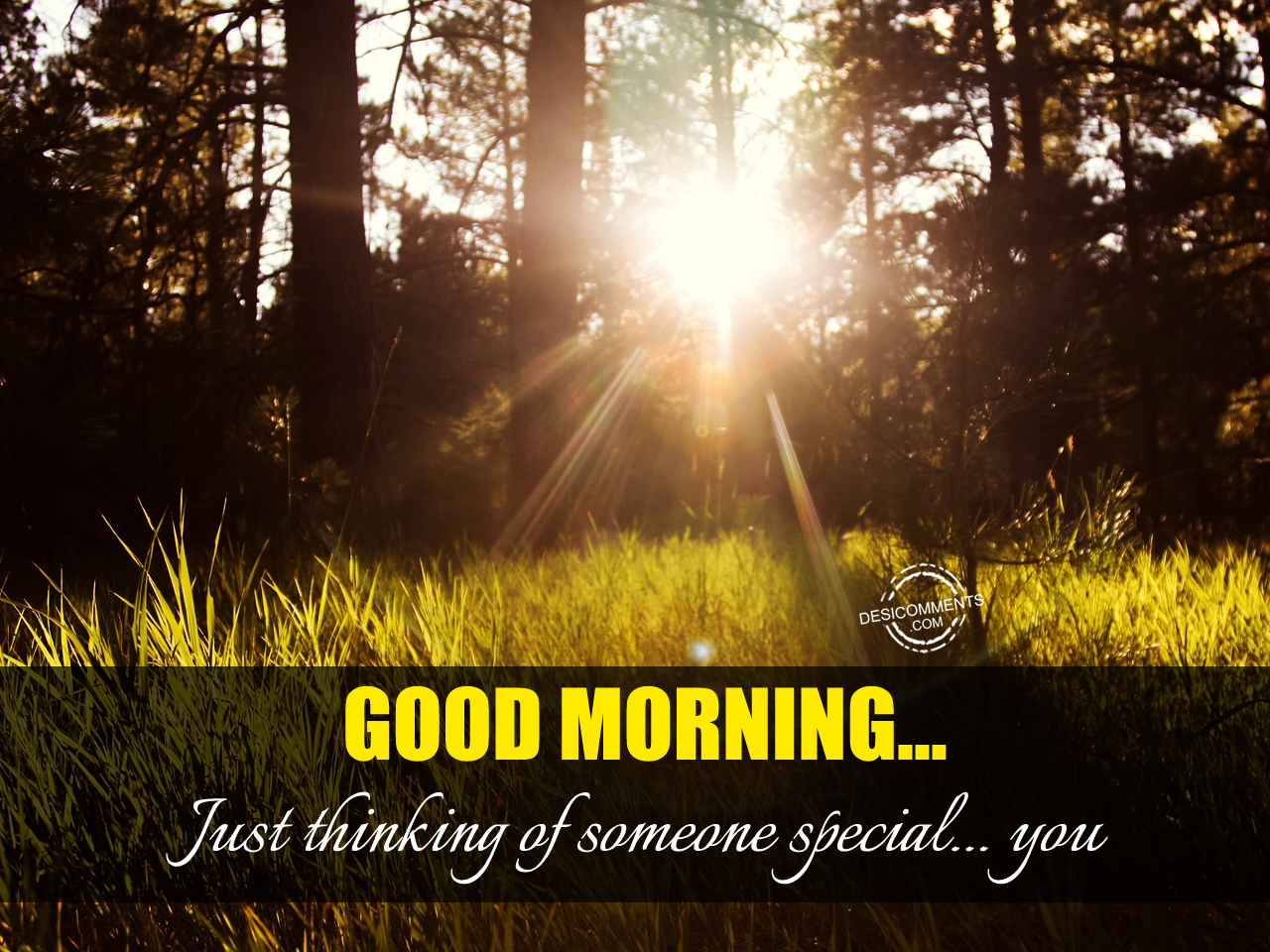 Good Morning Just Thinking Of Someone Special You Desicommentscom