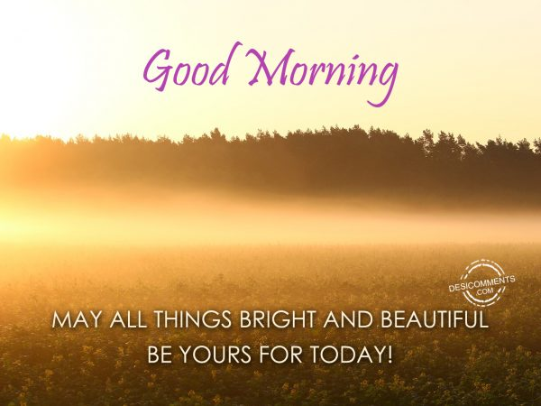 Good Morning May All Things Bright And Beautiful Be Yours For Today!