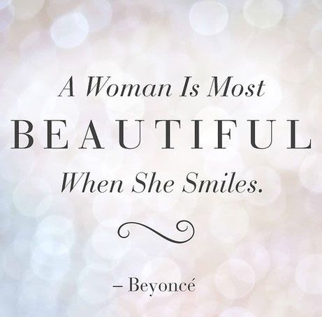 A Woman Is Most Beautiful When She Smiles